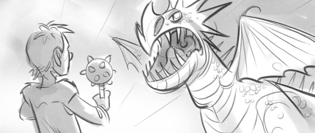 Storyboard de Como Treinar seu Dragão, cortesia de Ryan Savas